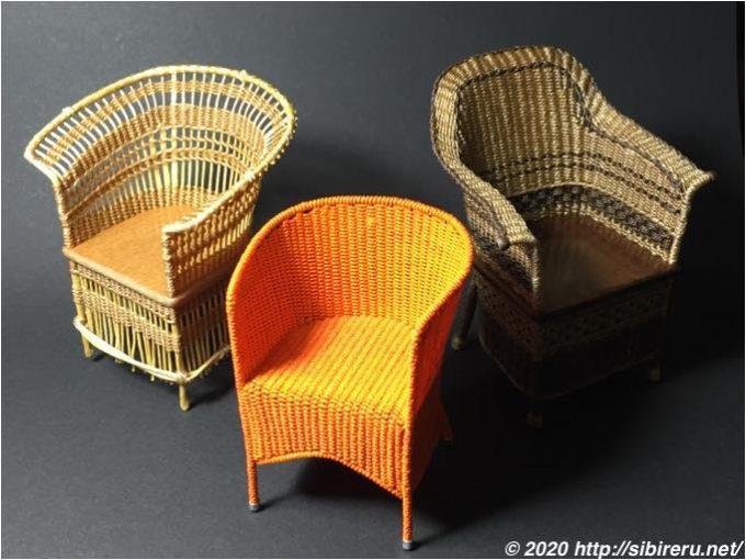 ミニチュア籐椅子