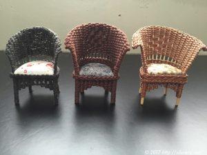 ドールハウス用籐椅子3個比較