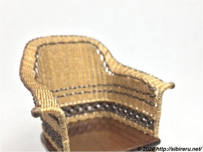 ミニチュア籐椅子ウッドビーズ