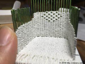ミニチュア籐椅子作成
