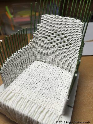 ミニチュア籐椅子作り方