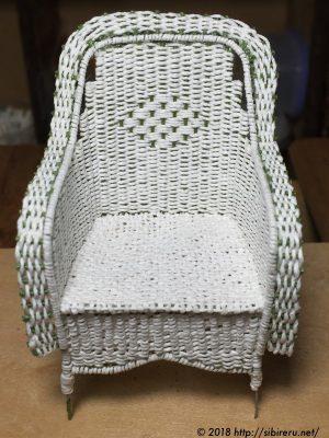 ミニチュア籐椅子試作1号