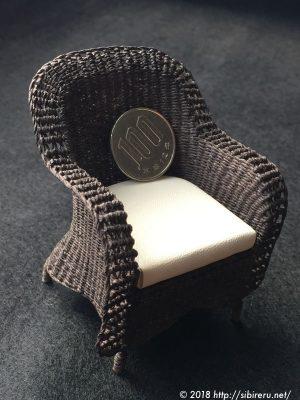 ミニチュア籐椅子+100円