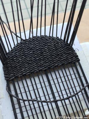ミニチュア籐椅子座面の作り方