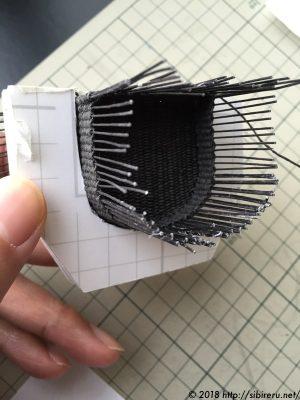 ミニチュアラタンチェア座面下作り方