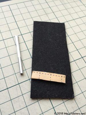 ミニチュア籐椅子脚部作り方