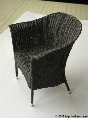 ミニチュア籐椅子全体2