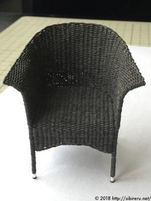 ミニチュア籐椅子全体4
