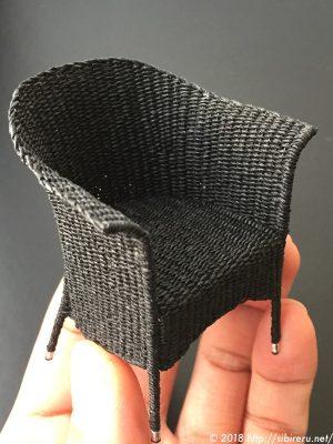 ミニチュア籐椅子完成品1