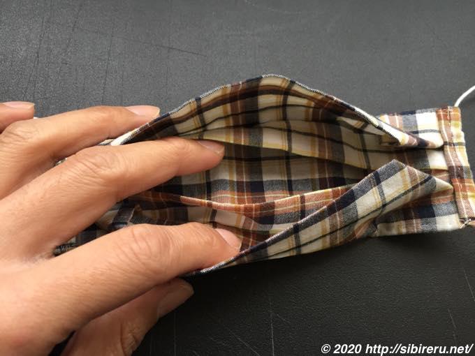 手縫い自作マスクポケット