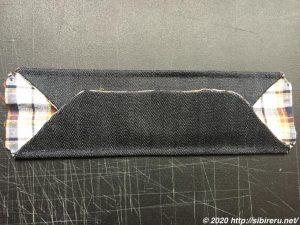デニム手縫い自作マスク背面