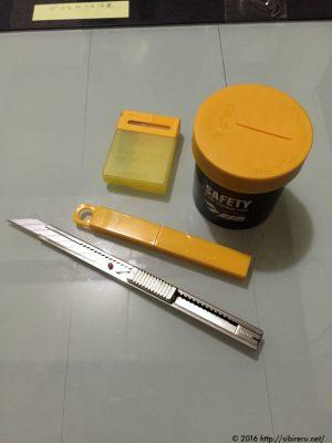 切り絵用の道具