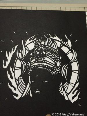 大人の切り絵「観音菩薩」